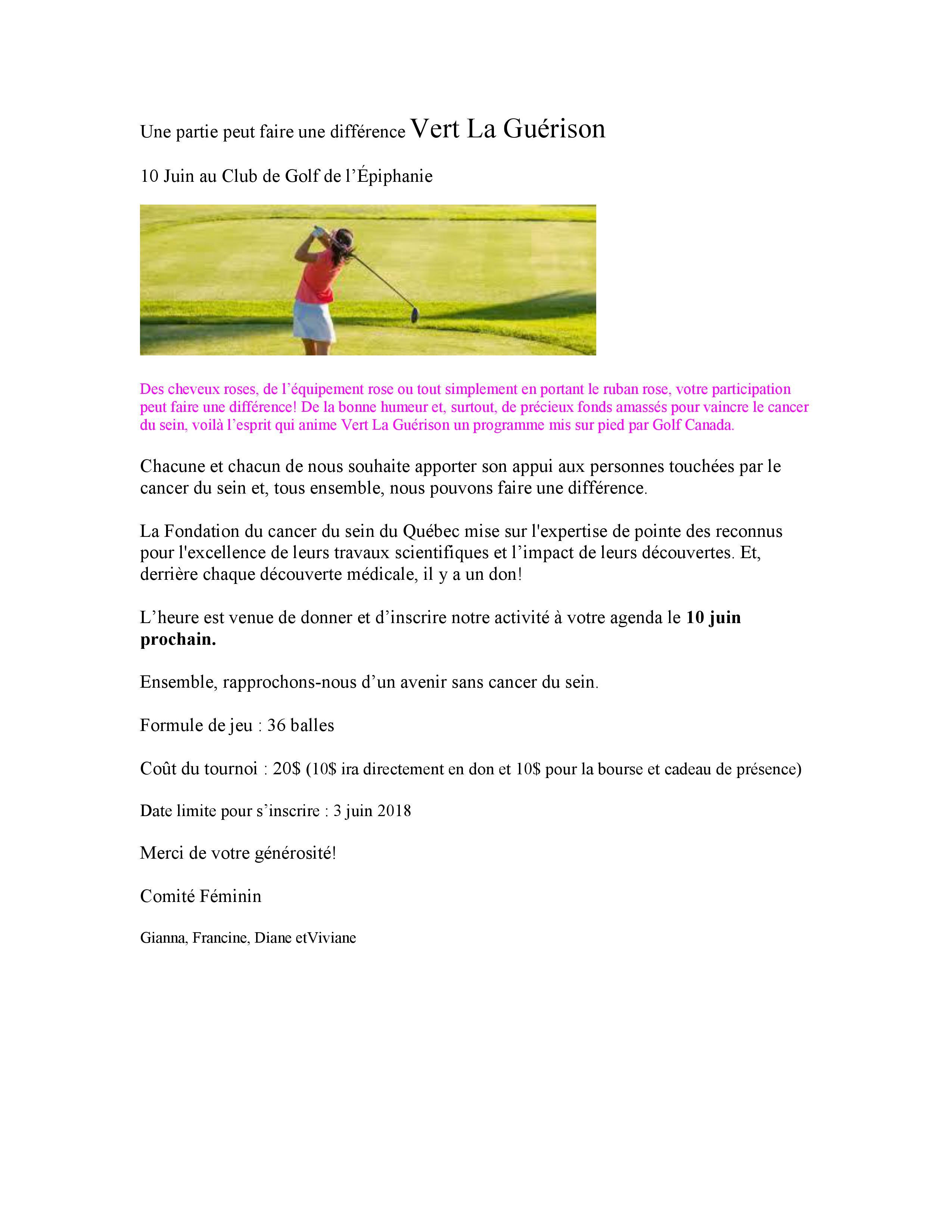 Accueil - Club de Golf de L'Épiphanie